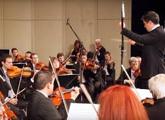 Integrantes de la orquesta en acción