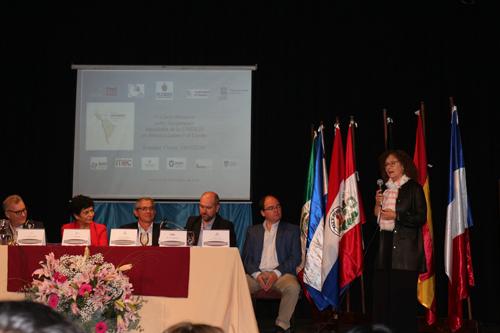 Autoridades durante la apertura del evento
