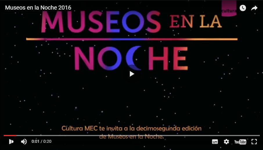 invitación Museos en la noche